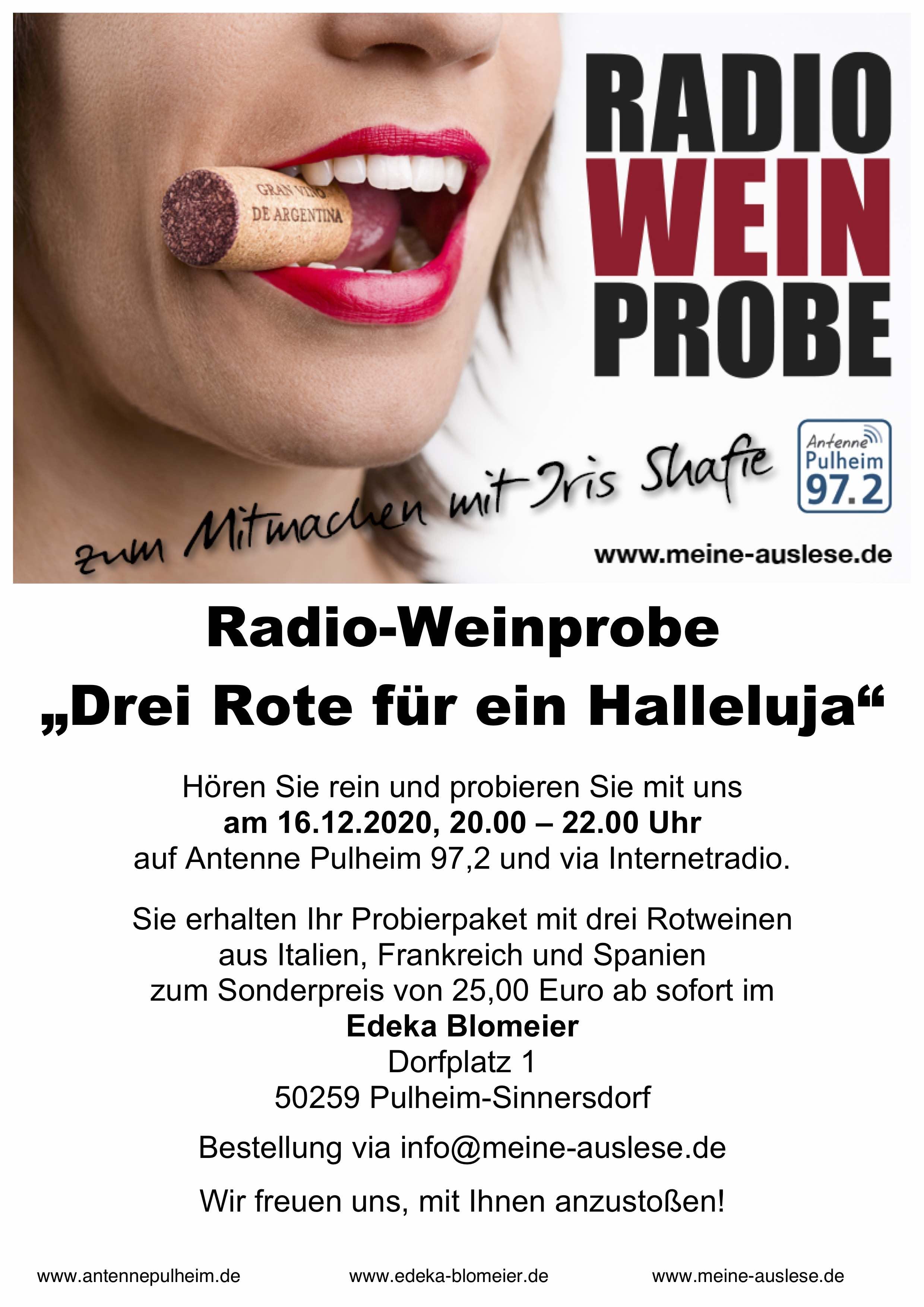 Radio Weinprobe mit Antenne Pulheim